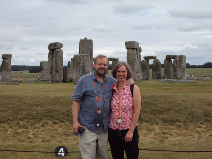 Glenn and Michele at Stonehenge