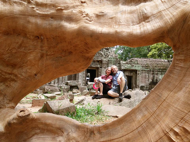 Michele and Glenn at Ta Prohm